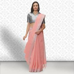 Traditional Linen Saree, Length: 6.5 m