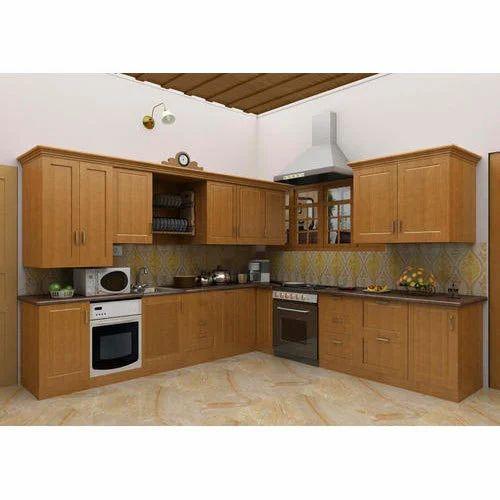 Plywood Modular Kitchen, Lakdi Ka Modular Rasoi Ghar