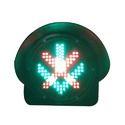 Red Cross And Green Arrow Traffic Light