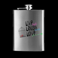 Personalized Hip Flask Silver -7 OZ