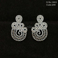American Diamond Designer Earring with CZ Stones