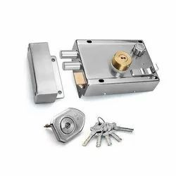 Stainless Steel SS Door Lock, For Security, Chrome