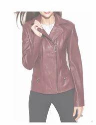 Women Real Lambskin Leather Biker Jacket Kw021