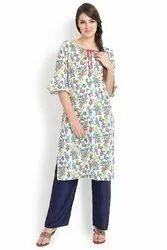 Multi-Coloured Crepe Kurti