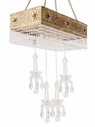 Linear Brass Carved Magic Chandelier, Chandelier Light - Fos ...