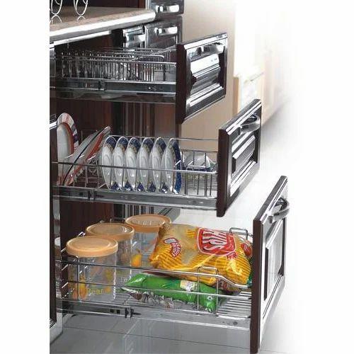 Modular Kitchen Pull Out Trolley, Bahar Khichne Ki Tokri