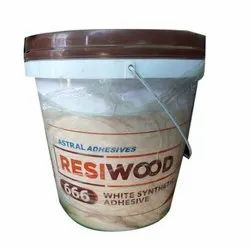 666 Resi Wood White Synthetic Wood Adhesive, Packaging Type: Plastic Bucket