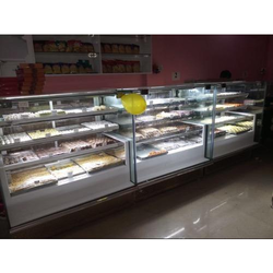 Glass and Stainless Steel Display Counter, For Shop