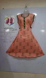 JC Cotton Jaipuri Printed Kurti, Machine wash, Size: Xl