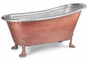 Clawfoot Design Copper Bathtub Nickel Inside NJO-7503