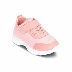 Kids Pink Lace Up Sports Shoes