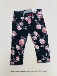 Black Cotton Kids Trousers