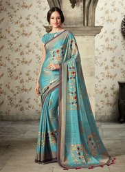 Fancy Jhallar Work Printed Sarees Collection