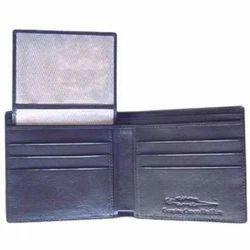 Adel International Black Bifold Goat Hide Leather Wallet
