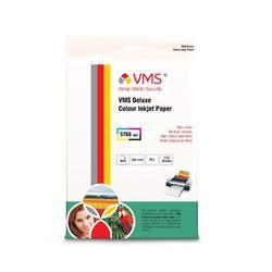 VMS Deluxe Colour Inkjet Paper High Glossy Inkjet Photo Paper 4R(102 x 152mm) 220 GSM (100 Sheets)