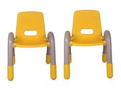 Yellow Pair Plastic Kids Chair (VJ-0239)