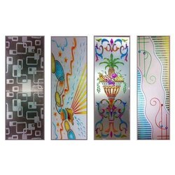 Printed Glossy Digital Printing Glass, Size: 4-6 Feet