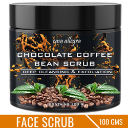 Casa Allegra 100gm Chocolate Coffee Bean Face Scrub, Pack Size: 100 Gm, for Personal