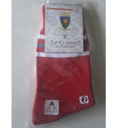 School Uniform Red Socks