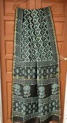 Printed silk Saree, With Blouse Piece