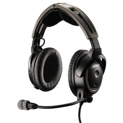 Black Wired Computer Headphone