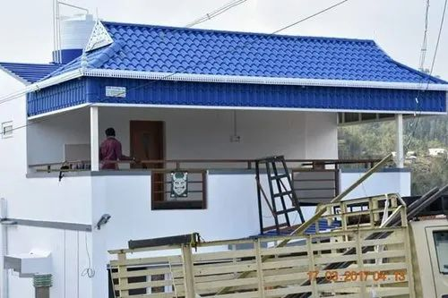 Euro Roofing Sheet Work Kerala Model Tile Roof Rs 250 Square Feet Kerala Model Colour Roofings Id 21480926412