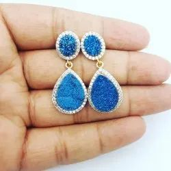 Druzy Pave Set Earrings