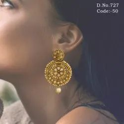 Ethnic Designer Stone Earrings