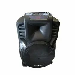 Clerion Black Portable Clarion Trolley Speaker, Size: 12 Inch