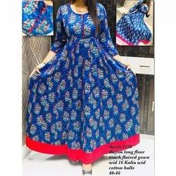 Aarfa 1756 Rayon Long Touch Flaired Gown