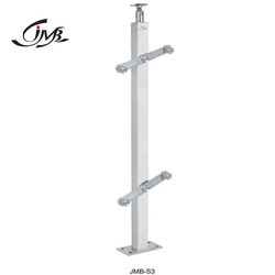 Stainless Steel Square Glass Holding Baluster