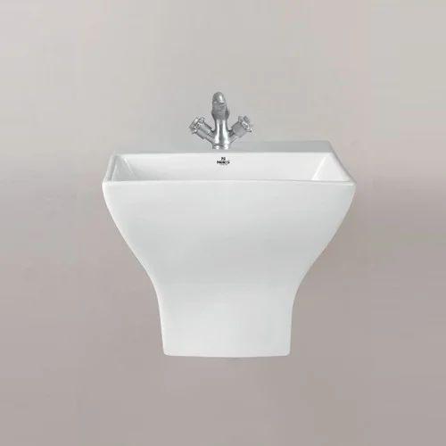 Ceramic Half Pedestal Wash Basin