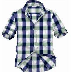 Casual Formal Wear Mens Check Shirts