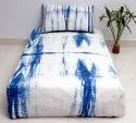Tie Dye Bedspread with 1 Pillow Case Indigo Shibori Bed Cover