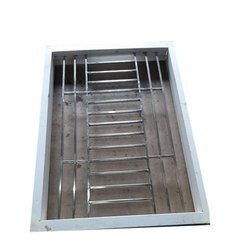 Coated Modern Chinese GI window fream and stainless steel grill., Size/Dimension: 4 X 4 Feet