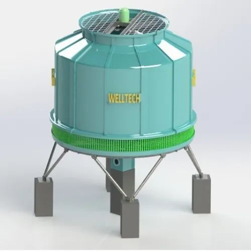 FRP Induced Draught Round Type Cooling Tower