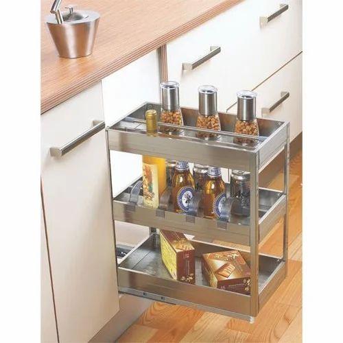 Stainless Steel Sliding Kitchen Drawers Rs 3800 Piece Wiretech International Id 16655550288