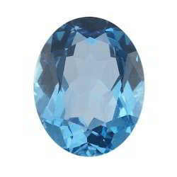 Swiss Blue Topaz Oval Faceted Stone