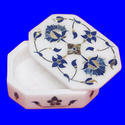 Marble Inlay Rounded Jewellery Box