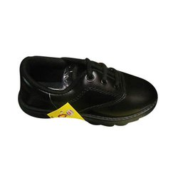 Lace Black School Shoes