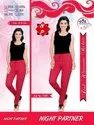 Red Lycra Cotton Ladies Lowers