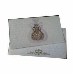 White Rectangular Personalized Wedding Cards