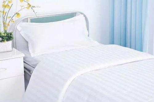 Cotton/polyester Blend Hospital Bed Sheet, Size: 60