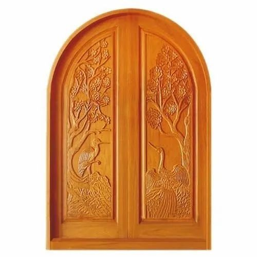 Polished Decorative Wooden Door, Thickness: 20-40 Mm