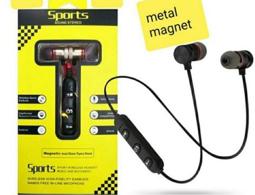 2 Colours Available Sports Magnetic Earphones Bluetooth Earbuds ब ल ट थ ईयरफ न S M Accessories Nagpur Id 20670127633