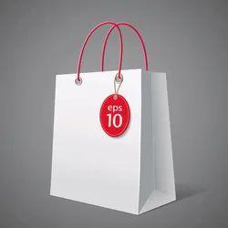White Plain Paper Shopping Bag