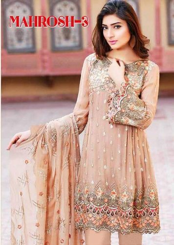 c72793b46a Georgette Heavy Embroided Suits (Mahrosh 3), Semi-stitched, Rs 1149 ...