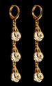 Sparkle Couplings Brass Drop Earring