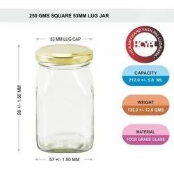 250 Gram Square Honey Jars