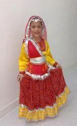 Silk Printed Stage Show Rajasthani Lehenga